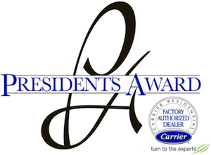 A proud four-time winner of the Carrier President's Award!